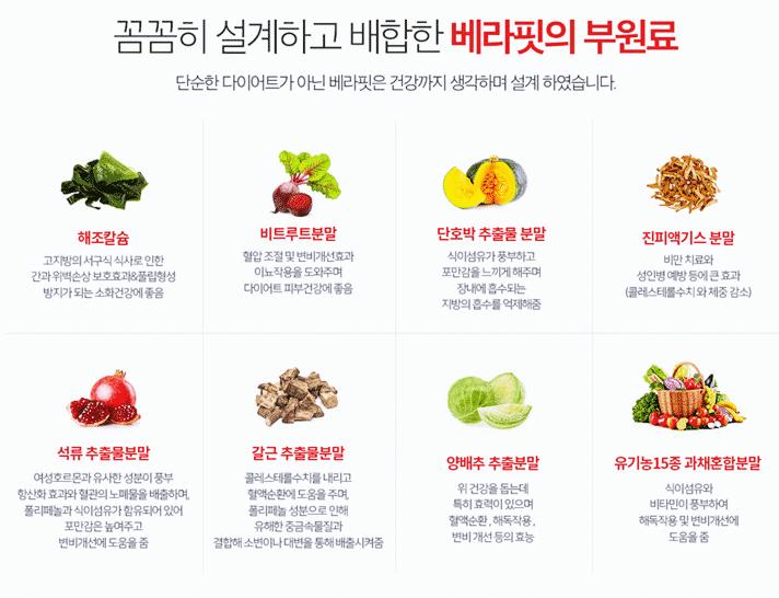 베라핏 다이어트 부원료